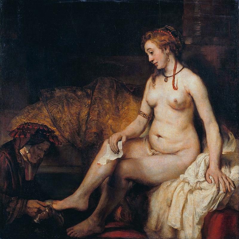 Betsabé con la carta de David y detalle, Rembrandt _ En El Vértice